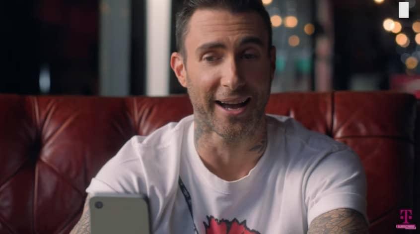 Adam Levine in the new T-Mobile ad