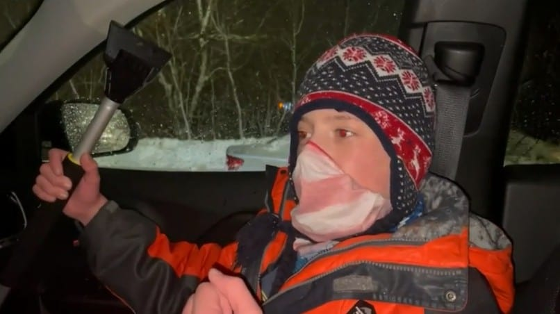 Christian Stone, a 10-year-old boy who helped clean the snow off the cars of medical staff at Westerly Hospital