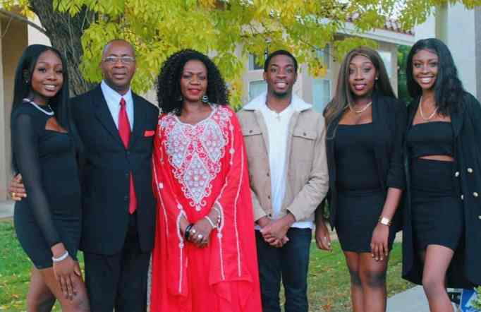 Evelyn Uba with her family