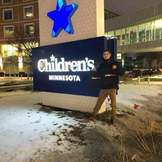 Hunter Kahn at Children's Minnesota Hospital