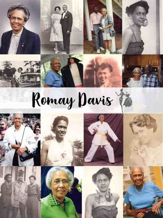 Pictures of Romay Davis throughout the years