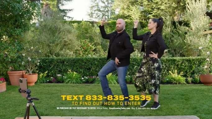 John Travolta and Ella Travolta in a Super Bowl ad