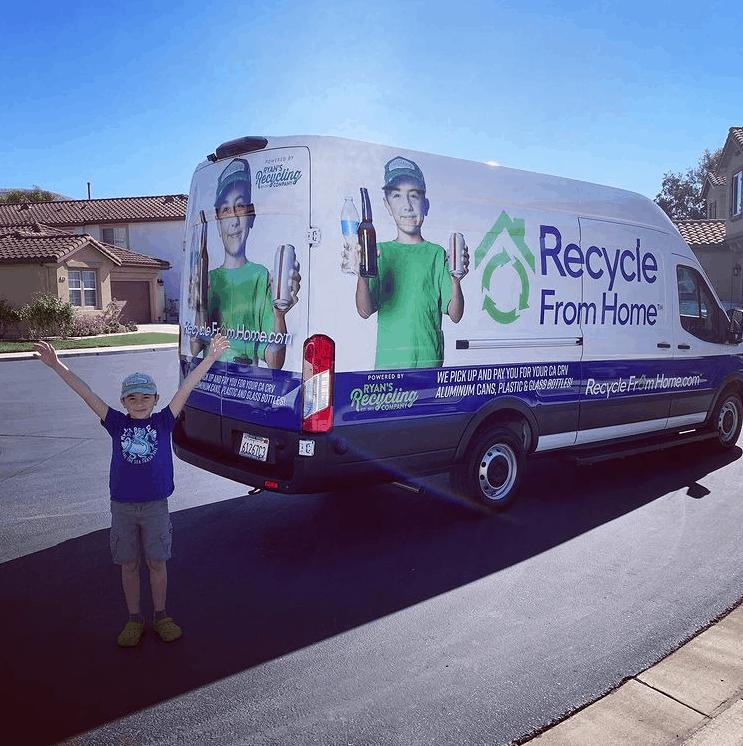 Ryan and his Ryan's Recycling Company's van