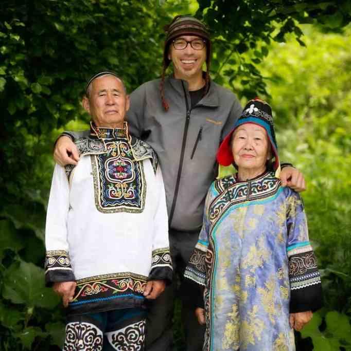 Alexander Khimushin in Far East Siberia with the Nanai People