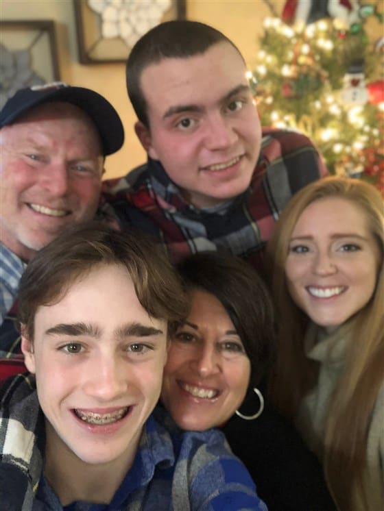 Ryan Lowry with his family
