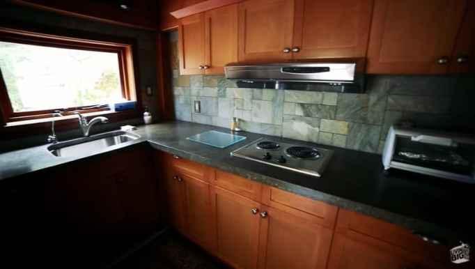 The kitchen inside Winckler Cottage