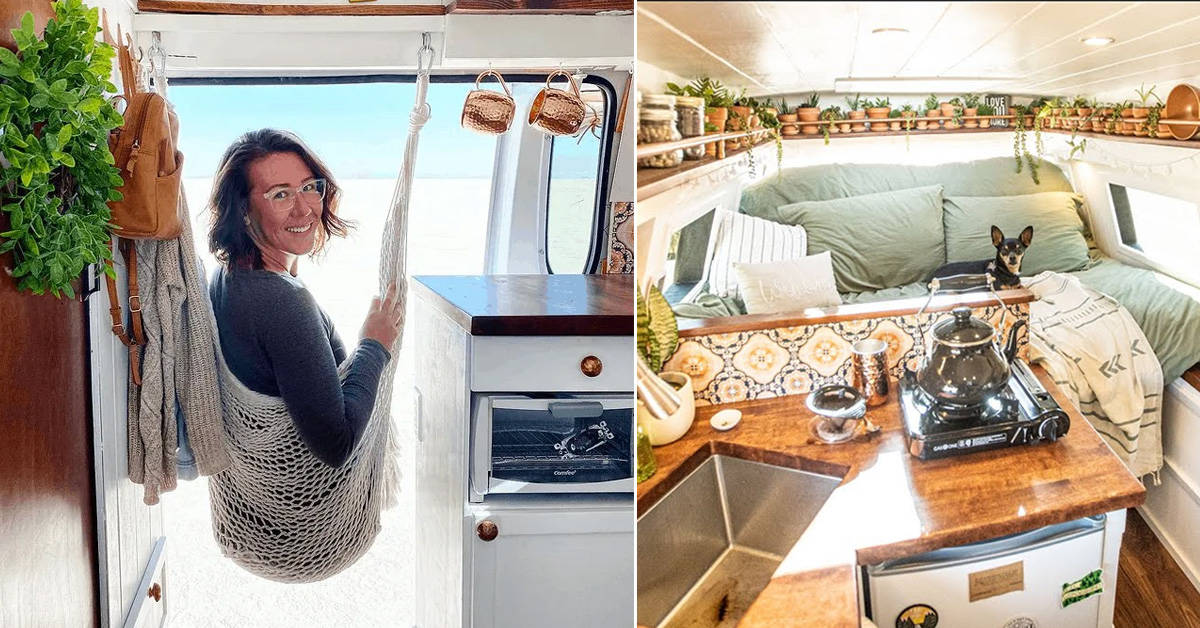 She transformed her minivan camper into a Bohemian sanctuary in just 42 days! - my positive outlooks