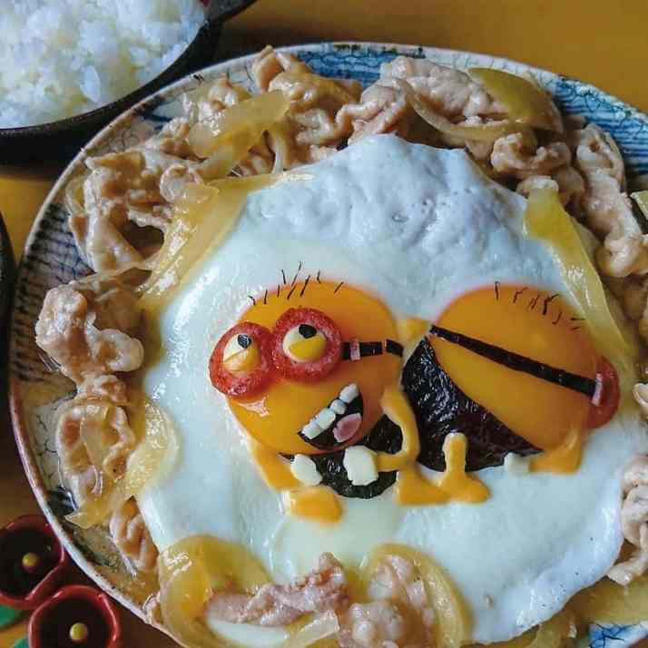 Minions in a character bento by Etoni Mama