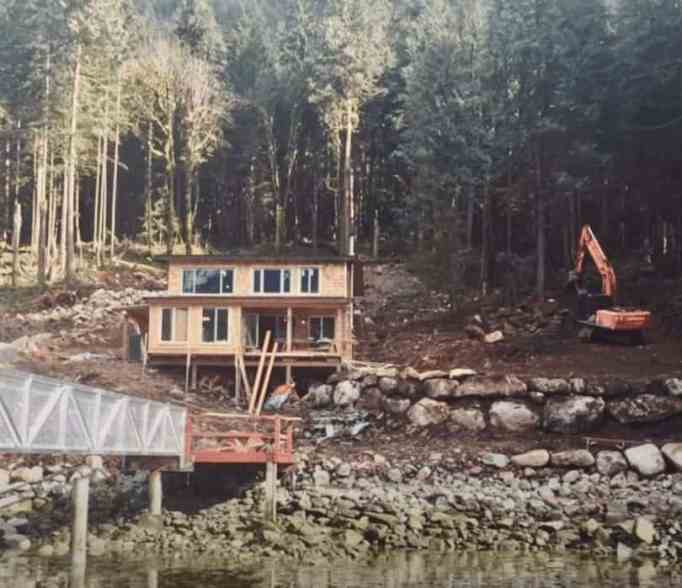 The construction of Mark and Chera's dream home