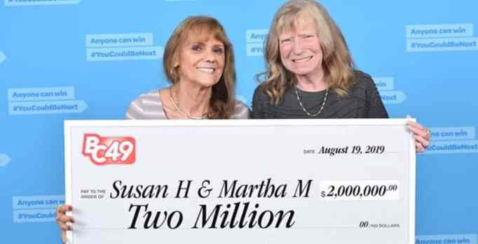 Martha McCallum and Susan Hook winning $2 million in the lottery