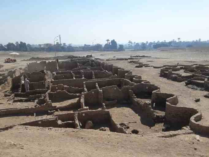 The ruins of the Lost Golden City in Egypt