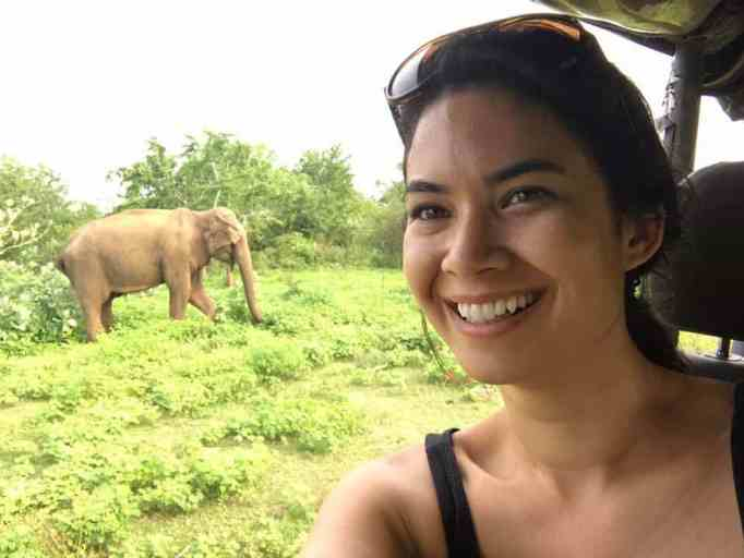 Melanie Perkins on a Safari tour.