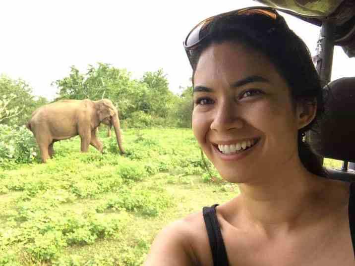 Melanie Perkins on a Safari tour.