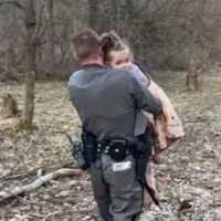 NY state trooper finds missing 2-year-old girl on top of mountain just before the sun set