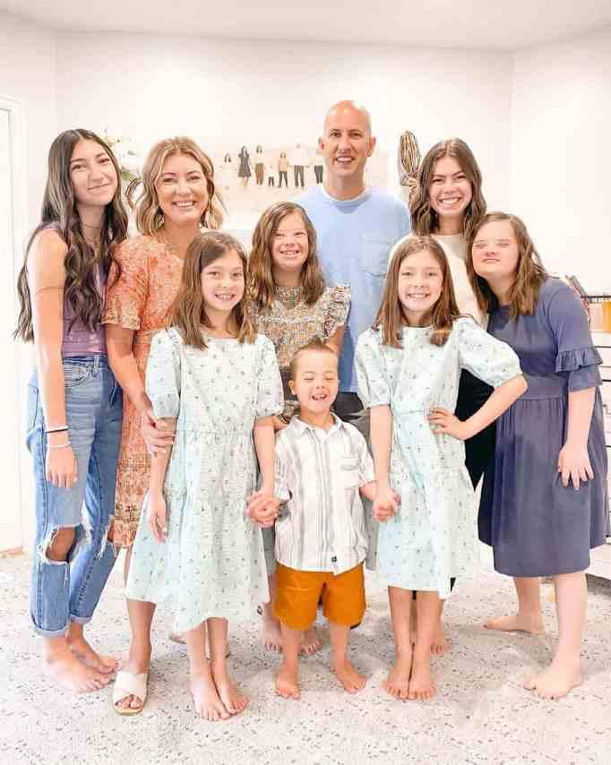 The entire Cox family