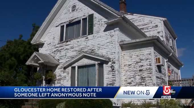 An exterior of a home with a lot of chipped paint