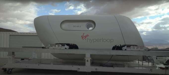 Инновационная транспортная система Virgin Hyperloop состоит из контейнеров, ориентированных на пассажиров.