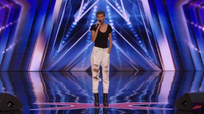 Джейн Марчевски на сцене America's Got Talent