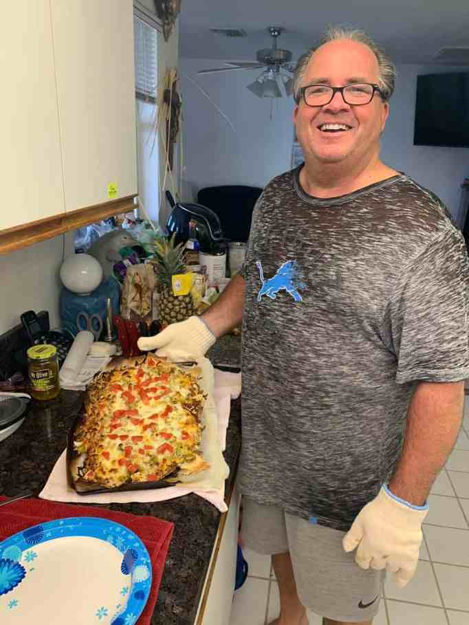A man and the nachos he made