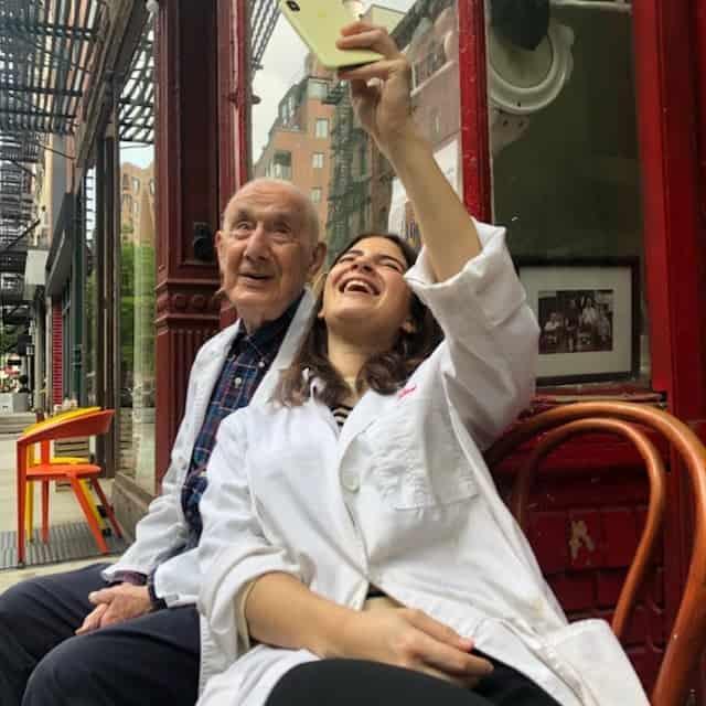 Selfie with grandpa moe
