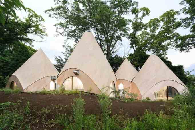 a group of 5 beautiful huts