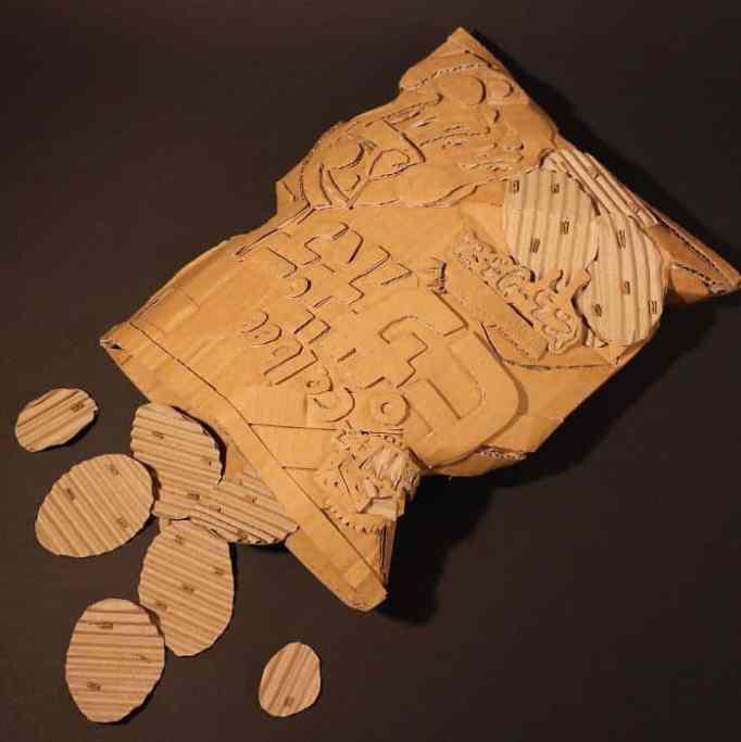 Monami Ohno's cardboard sculpture