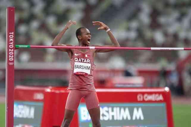 Mutaz Barshim during the Tokyo Olympics