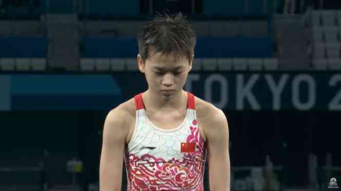 Quan Hongchan in the Tokyo Olympics