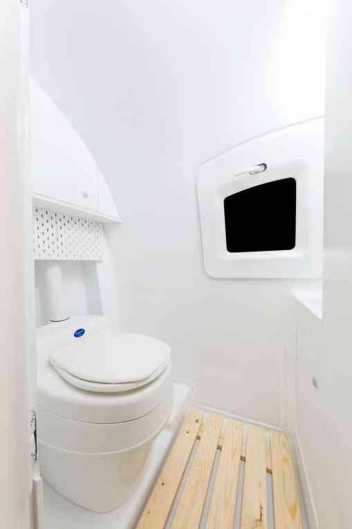 The bathroom inside the Ecocapsule