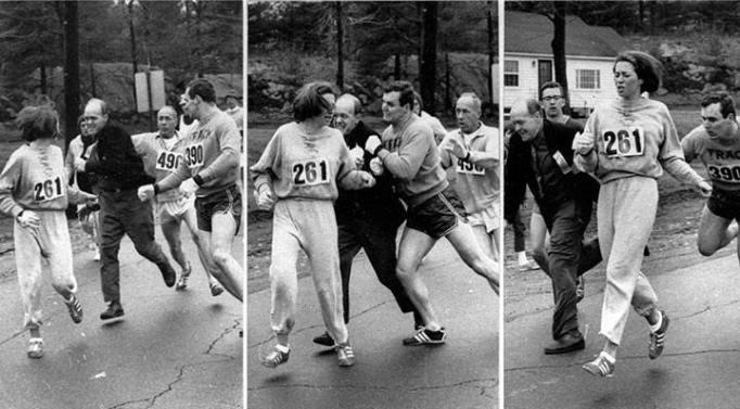 Kathrine Switzer in the 1967 Boston Marathon