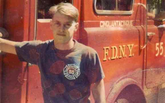 Steve Buscemi while working as a New York City firefighter in 1981