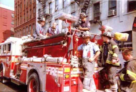 Firefighter on the ground after 9/11
