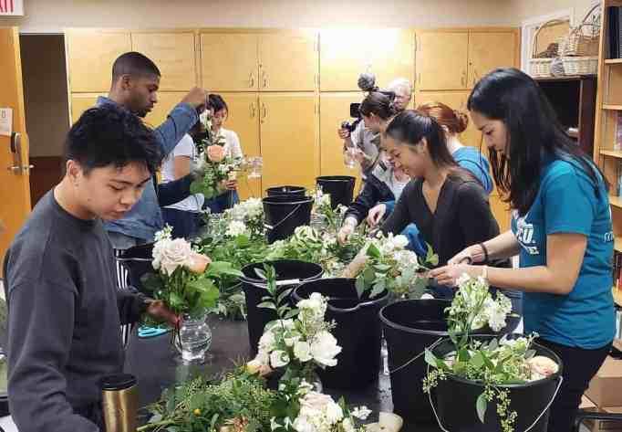 The Simple Sunflower volunteers repurposing wedding flowers