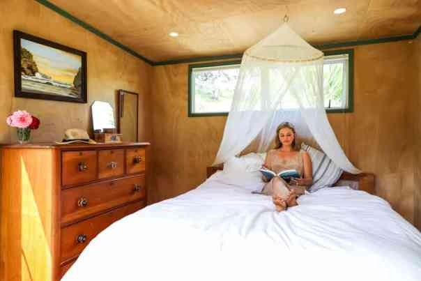 The bedroom of Ruby's tiny house