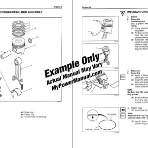 Engine repair shop service manual example