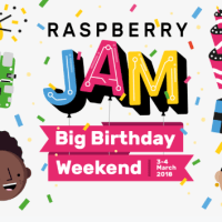 Raspberry Pi Big Birthday Weekend Invitation