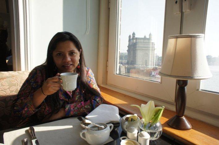 Breakfast at the Taj