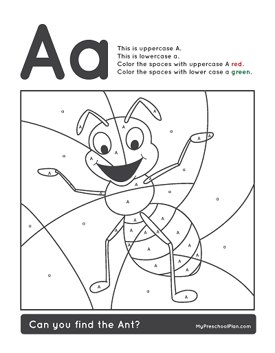 alphabet amp number printable pack for preschoolers my preschool plan