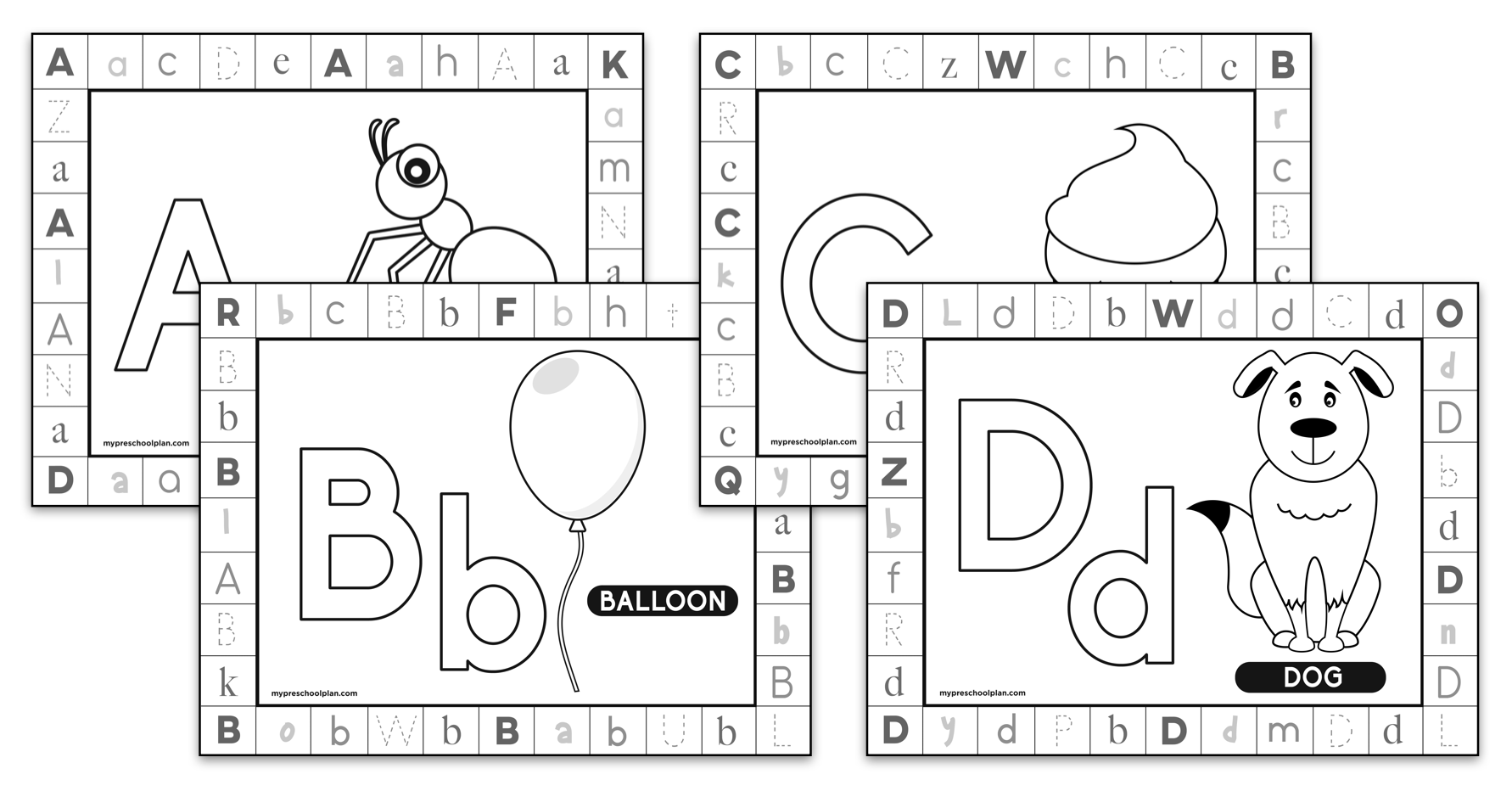 Alphabet Print And Punch Worksheets