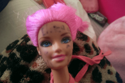 how to get permanent marker off a barbie doll