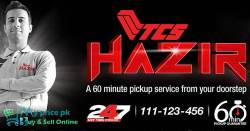 TCS Introduced a 24/7 Hazir Time Choice Delivery Service and Pickup in 60 Minutes