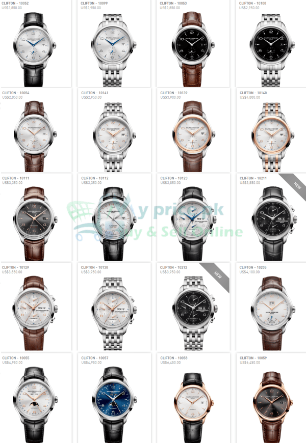 Baume & Mercier Clifton GMT Gents/Men watches Price and Shape Pictures of Pakistan Specs