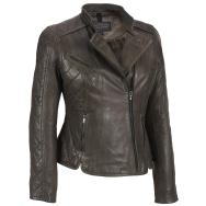Winter Ladies New Styles Leather Jackets Black and Brown Color Collections
