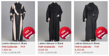 Junaid Jamshed Ladies Winter Abayas Latest Collection New Design with Price