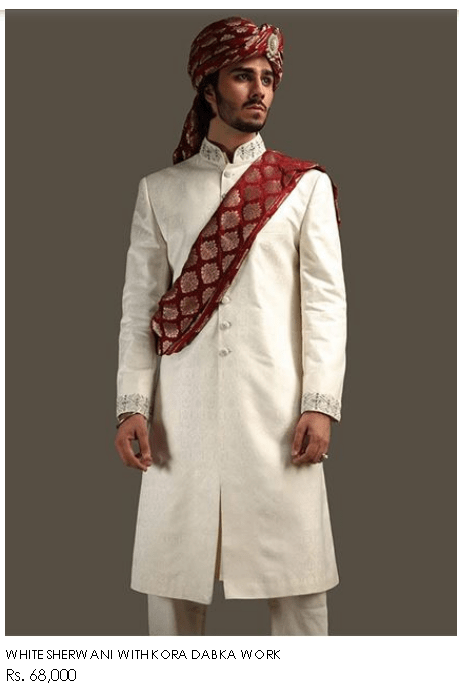 Deepak Perwani Men's Dresses Collections For Wedding Designs Colors
