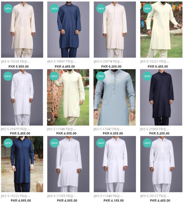 Latest Kameez Shalwar and Kurta Dresses Collections By J. Junaid Jamshed For Men Price