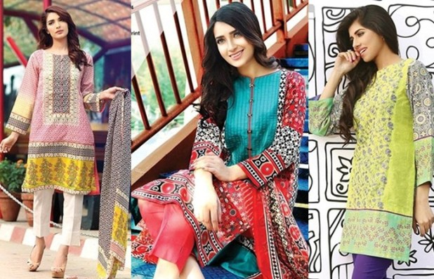 Latest Ittehad Women's Dresses Collection For Summer Spring 2017 Sale Promotions Discount Offers