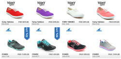 Bata Ladies Summer Shoes Collection 2021 Power and Tomy Takkies New Design with Price