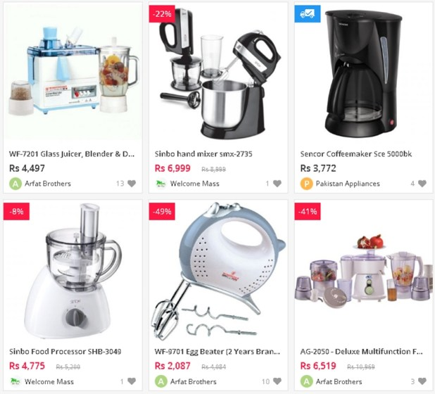 Online Shopping Websites in Pakistan For Appliances Electronics Accessories Home and Office Use