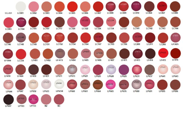 Ten Lipsticks Brands in Pakistan with Price Colors and Color Code